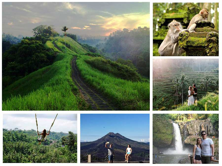 Campuhan Ridge Walk - Alas Arum Swing - Tegenungan Waterfall