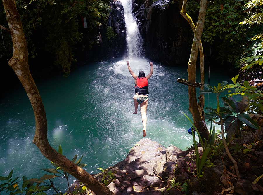 Cliff Jumping at Aling-Aling Waterfall - Bali Driver