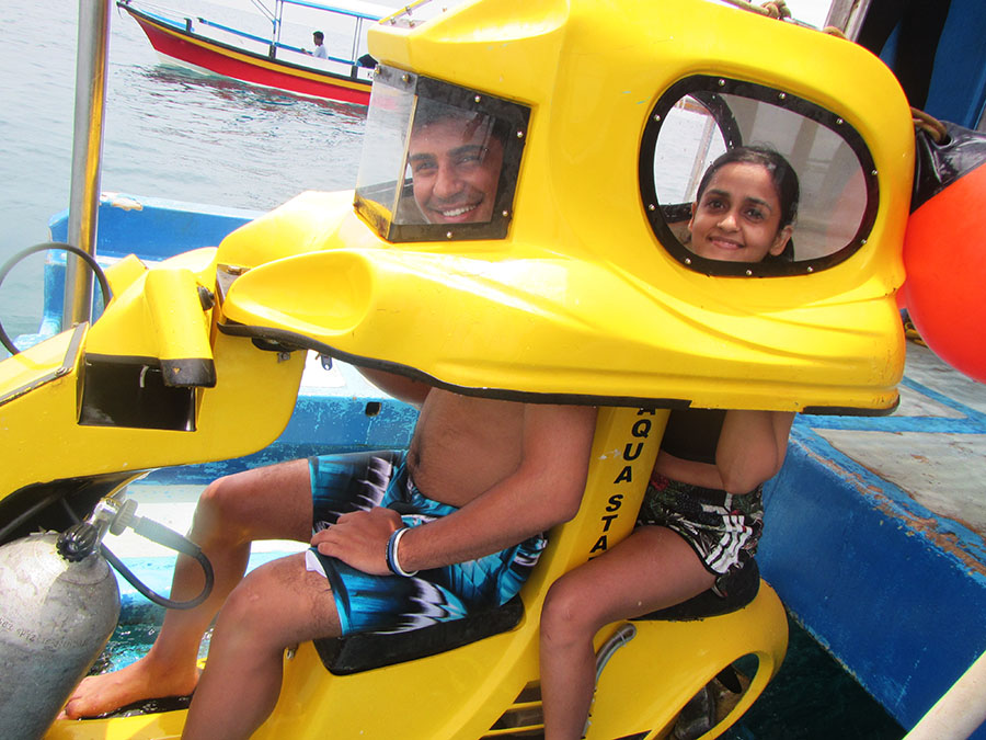 Bali A1 Driver Tour Underwater Scooter - Bali Driver Tours